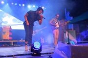 Sameer Gadhia, Jacob Tilley, Eric Cannata, Payam Doostzadeh and Francois Comtois of Young the Giant perform onstage during OZY FEST 2018 at  Rumsey Playfield, Central Park on July 21, 2018 in New York City.