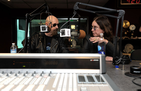 Rob Halford Musicians Rob Halford (L) and Ozzy Osbourne attend the press conference announcing OZZFest 2010 at the Sixx Sense Studio on April 30, 2010 in Sherman Oaks, California.
