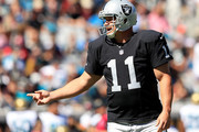 Sebastian Janikowski #11 of the Oakland Raiders during the game against the Jacksonville Jaguars at EverBank Field on October 23, 2016 in Jacksonville, Florida.