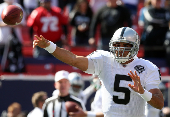 Oakland Raiders Start Of Bruce Gradkowski Hue Jackson's Good Error