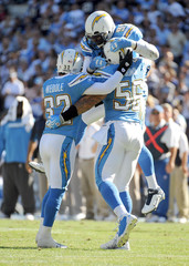 Shaun Phillips Eric Weddle Oakland Raiders v San Diego Chargers