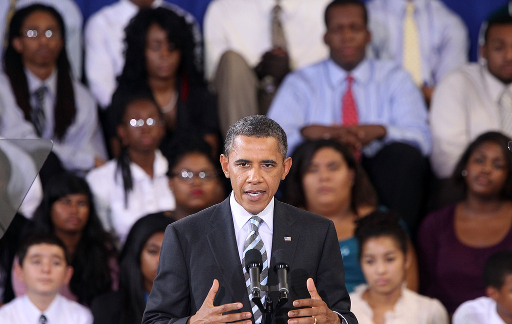 """back to school speech by obama The text """"back to school"""" is a speech held by the president of the united states, barack obama, in september 2009 at a school in arlington, virginia the speech is about education and how important it is to this generation to have an education, if they want to succeed in the future."""