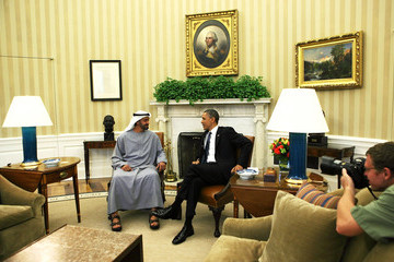 Mohammed bin Zayed Al Nahyan Obama Holds Bilateral Meeting With United Arab Emirates Crown Prince