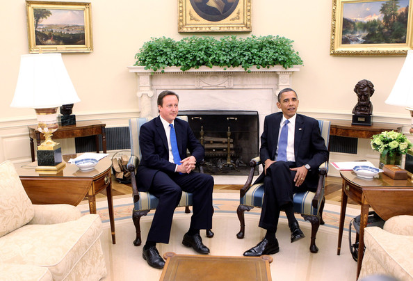 Barack Obama British Prime Minister David Cameron (L) meets U.S. President Barack Obama in the Oval Office of the White House on July 20, 2010 in Washington, DC. During his meeting with Obama, the leaders are expected to discuss the military situation in Afghanistan and BP's oil spill in the Gulf of Mexico, among other issues. Cameron is on a two-day visit to the U.S.