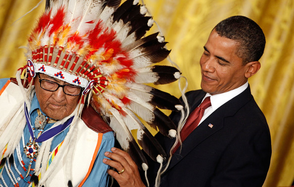 Joe+Medicine+Crow in Obama Honors Sixteen With Congressional Medal Of Freedom