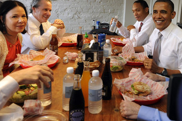 Nancy-Ann DeParle Obama Takes Staff Members Out To Lunch At Local DC Restaurant
