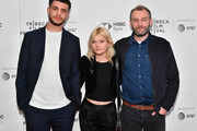 """(L-R) Marcus Rutherford, Sophie Kennedy Clark and Director Jamie Jones attend a screening of """"Obey"""" during the 2018 Tribeca Film Festival at Cinepolis Chelsea on April 22, 2018 in New York City."""