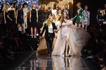 Odile Gilbert 'La French-Art Of Coloring' - 110th Anniversary Of L'Oreal Professional : Runway At Carrousel Du Louvre In Paris