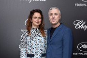 Alice Rohrwacher (L) and Robin Campillo attend the Official Trophee Chopard Dinner Photocall as part of the 72nd Cannes International Film Festival on May 20, 2019 in Cannes, France.