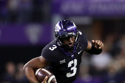 Shawn Robinson #3 of the TCU Horned Frogs runs the ball against the Ohio State Buckeyes in the first quarter during The AdvoCare Showdown at AT&T Stadium on September 15, 2018 in Arlington, Texas.