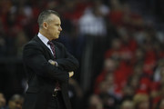 Billy Donovan of the Oklahoma City Thunder watches from the bench in the first half of Game Two of the Western Conference quarterfinals game against the Houston Rockets during the 2017 NBA Playoffs at Toyota Center on April 19, 2017 in Houston, Texas. NOTE TO USER: User expressly acknowledges and agrees that, by downloading and or using this photograph, User is consenting to the terms and conditions of the Getty Images License Agreement.