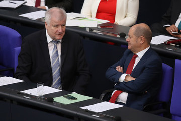 Olaf Scholz Horst Seehofer The Day After Compromise, A Fragile Peace Settles On German Government