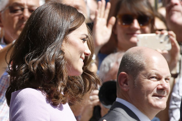 Olaf Scholz The Duke and Duchess of Cambridge Visit Germany - Day 3