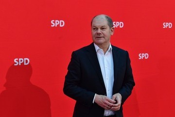 Olaf Scholz SPD Executive Committee Meet at the Party's Headquarters in Berlin
