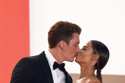 """Miles Teller and his girlfriend Keleigh Sperry attend the screening of """"Too Old To Die Young"""" during the 72nd annual Cannes Film Festival on May 17, 2019 in Cannes, France."""