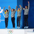 Olena Pidhrushna Medal Ceremony - Winter Olympics Day 15