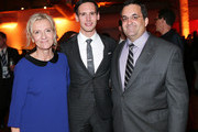 "(L-R) Author Elizabeth Strout, actor Cory Michael Smith and President of HBO Miniseries Kary Antholis attend the ""Olive Kitteridge"" New York Premiere After Party at the Altman Building on October 27, 2014 in New York City."