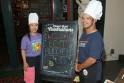 Best Buddies attend a pizza party hosted by Olivia Culpo at Buca di Beppo in support of Best Buddies International on July 31, 2019 in Los Angeles, California.