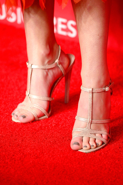 The 2015 MusiCares Person Of The Year Gala Honoring Bob Dylan - Arrivals [musicares person of the year gala,musicares 2015 person of the year gala,footwear,red,human leg,leg,foot,toe,ankle,joint,sandal,high heels,arrivals,olivia holt,bob dylan,fashion detail,benefit,funds,programs,los angeles convention center]