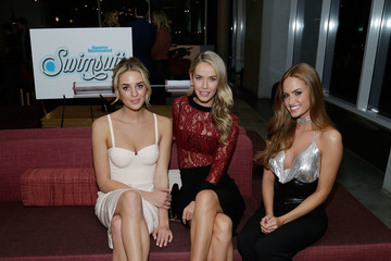 Olivia Jordan Allie Ayers SI Swimsuit 2018 Model Search Celebration and Preview of the Sports Illustrated Swim and Active Collection at Mr. Purple in Hotel Indigo LES