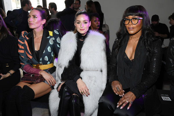 Elie Saab : Front Row - Paris Fashion Week Womenswear Fall/Winter 2020/2021 [fashion,fur,event,fur clothing,fashion design,eyewear,haute couture,textile,party,black hair,olivia palermo,nieves alvarez,angela bassett,front row,part,l-r,paris,france,paris fashion week womenswear fall,elie saab,sunglasses,fur clothing,clothing,textile,fur,socialite,haute couture,flooring,event]