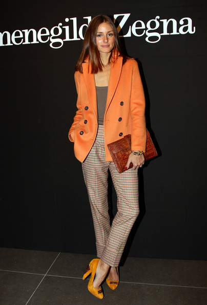 Olivia Palermo Olivia Palermo attends the Ermenegildo Zegna Milan Fashion Week Menswear A/W 2011 show on January 15, 2011 in Milan, Italy.
