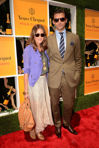 The Fifth Annual Veuve Clicquot Polo Classic - Red Carpet Arrivals [red carpet,carpet,eyewear,suit,premiere,fashion,event,flooring,formal wear,outerwear,red carpet arrivals,jersey city,veuve clicquot polo classic,johannes huebl,olivia palermo]