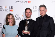 Kyle Soller with the award for Best Actor presented by Sally Field and Bill Pullman during The Olivier Awards with Mastercard at the Royal Albert Hall on April 07, 2019 in London, England.