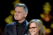 Sally Field and Bill Pullman present the Best Actor award on stage during The Olivier Awards 2019 with Mastercard at the Royal Albert Hall on April 07, 2019 in London, England.
