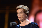 Juliet Stevenson present the Special award on stage during The Olivier Awards with Mastercard at Royal Albert Hall on April 8, 2018 in London, England.