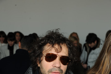 Olivier Zahm Front Row at the Theory Show