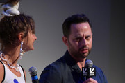 """Actors and co-writers Alexi Pappas Nick Kroll take part in a Q&A following the """"Olympic Dreams"""" premiere during the 2019 SXSW Conference and Festivals at ZACH Theatre on March 10, 2019 in Austin, Texas."""