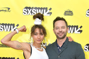 """(L-R) Actors and and co-writers Alexi Pappas Nick Kroll attend the """"Olympic Dreams"""" premiere during the 2019 SXSW Conference and Festivals at ZACH Theatre on March 10, 2019 in Austin, Texas."""