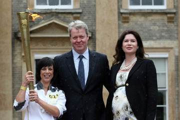 Earl Spencer The Olympic Flame Continues Its Journey Around The UK