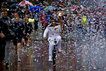 Shanaze Reade The Olympic Flame Continues Its Journey Around The UK
