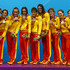 Clara Basiana Canellas Photos - Bronze medallists Spain pose on the podium during the medal ceremony for the Women's Teams Synchronised Swimming Free Routine final on Day 14 of the London 2012 Olympic Games at the Aquatics Centre on August 10, 2012 in London, England. - Clara Basiana Canellas Photos - 9 of 34