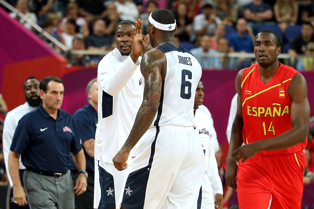 Lebron James Serge Ibaka Lebron James And Serge Ibaka Photos Zimbio