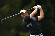Rory McIlroy of Northern Ireland plays a shot during the pro-am prior to the start of the Omega European Masters at Crans Montana Golf Club on August 28, 2019 in Crans-Montana, Switzerland.