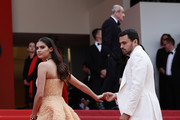 "Sara Sampaio and Oliver Ripley attend the screening of ""Once Upon A Time In Hollywood"" during the 72nd annual Cannes Film Festival on May 21, 2019 in Cannes, France."
