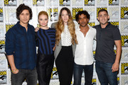 "Actors Peter Gadiot, Emma Rigby, Sophie Lowe, Naveen Andrews and Michael Socha attend ""Once Upon A Time In Wonderland"" Press Line during Comic-Con International 2013 at Hilton San Diego Bayfront Hotel on July 20, 2013 in San Diego, California."