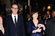 (L-R) Director Nicolas Winding Refn and actress Kristin Scott Thomas attend the 'Only God Forgives' Premiere during the 66th Annual Cannes Film Festival at Palais des Festivals on May 22, 2013 in Cannes, France.