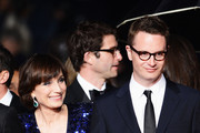 (R-L) Director Nicolas Winding Refn and actress Kristin Scott Thomas attend the 'Only God Forgives' Premiere during the 66th Annual Cannes Film Festival at Palais des Festivals on May 22, 2013 in Cannes, France.