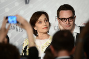 Actress Kristin Scott Thomas and director Nicolas Winding Refn attend the 'Only God Forgives' Press Conference during the 66th Annual Cannes Film Festival on May 22, 2013 in Cannes, France.