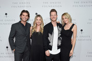 Owner and CEO of Onsite Miles Adcox, actress Vanessa Lee Evigan, Tyler Hubbard of musical duo Florida Georiga Line and Hayley Hubbard attend the 2018 Inspire event by The Onsite Foundation at Marathon Music Works on October 23, 2018 in Nashville, Tennessee.
