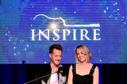 Tyler Hubbard of musical duo Florida Georgia Line (L) and Hayley Hubbard speak onstage during 2018 Inspire event by The Onsite Foundation at Marathon Music Works on October 23, 2018 in Nashville, Tennessee.