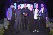 (L-R) Big Kenny of musical duo Big & Rich, owner and CEO of Onsite Miles Adcox, Live Nation?s President of Country Touring Brian O'Connell, Hayley Hubbard, Tyler Hubbarad of musical duo Florida Georgia Line and Adam Burish attend the 2018 Inspire event by The Onsite Foundation at Marathon Music Works on October 23, 2018 in Nashville, Tennessee.