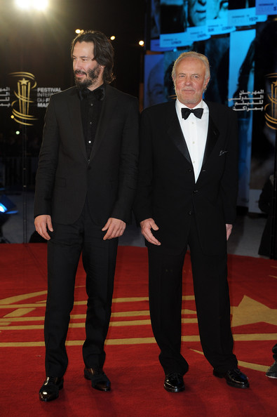 Actors Keanu Reeves and James Caan Pose as they arrive at the opening ceremony of the Marrakech 10th International Film Festival on December 3, 2010 in Marrakech, Morocco.