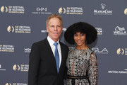 Greg Germann and Kelly McCreary attend the opening ceremony of the 59th Monte Carlo TV Festival on June 14, 2019 in Monte-Carlo, Monaco.