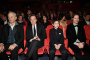 (L-R) Bill Murray, Bryan Cranston, Koyu Rankin and Wes Anderson attend the Opening Ceremony & 'Isle of Dogs' premiere during the 68th Berlinale International Film Festival Berlin at Berlinale Palace on February 15, 2018 in Berlin, Germany.