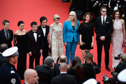 (R-L) Jury members Carole Bouquet, Nicolas Winding Refn, Sofia Coppola, Jury President Jane Campion, jury members Leila Hatami,  Gael Garcia Bernal, Zhangke Jia, Do-yeon Jeon and Willem Dafoe attend the Opening Ceremony and the 'Grace of Monaco' premiere during the 67th Annual Cannes Film Festival on May 14, 2014 in Cannes, France.